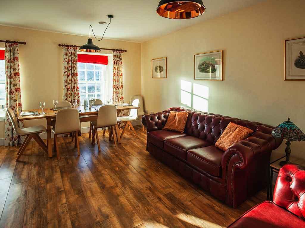 Sitting room. Scottish holiday cottage. Isle of Harris.