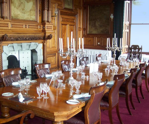 We source some of Scotland's finest ingredients for the chefs to prepare at Amhuinnsuidhe Castle, Harris, Scotland. Guests take dinner and breakfast at the banqueting-size table