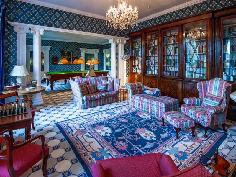 Amhuinnsuidhe Castle, Isle of Harris, offers comfort with beautiful antiques and paintings evoking the Victorian era of its origins and architecture.