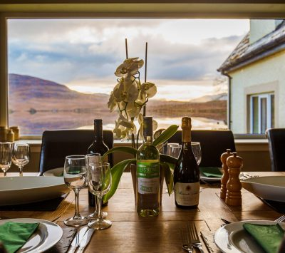 Morsgail Lodge, Harris. Holiday accommodation with private in-house chef.